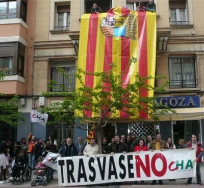 Primer acto público contra el trasvase del PSOE