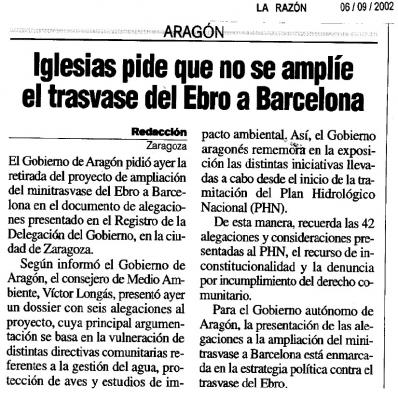 NOS GUSTARÍA QUE ESTE TITULAR DE 2002 SE REPITIERA AHORA, PERO...