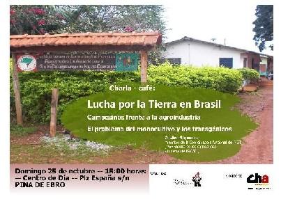 El domingo 25 a las 18h. en el Centro de día de Pina, charla del MST (Movimiento de los campesinos sin tierra de Brasil)