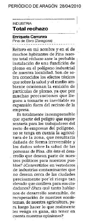 En El Periódico de Aragón ayer