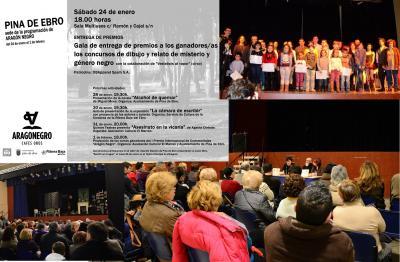 Más de 700 personas han participado en las actividades del festival Aragón Negro en Pina