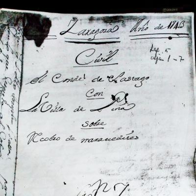 Un pleito de 1743 del conde de Sástago contra la villa de Pina
